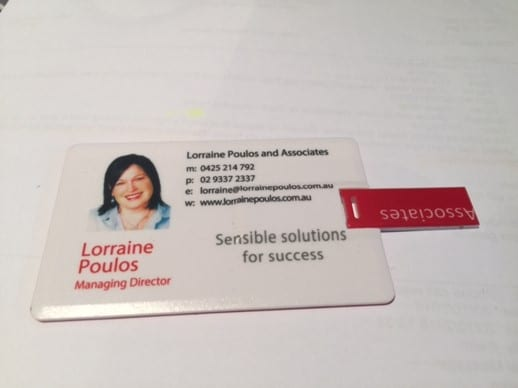 USB resources from Lorraine's training and seminars